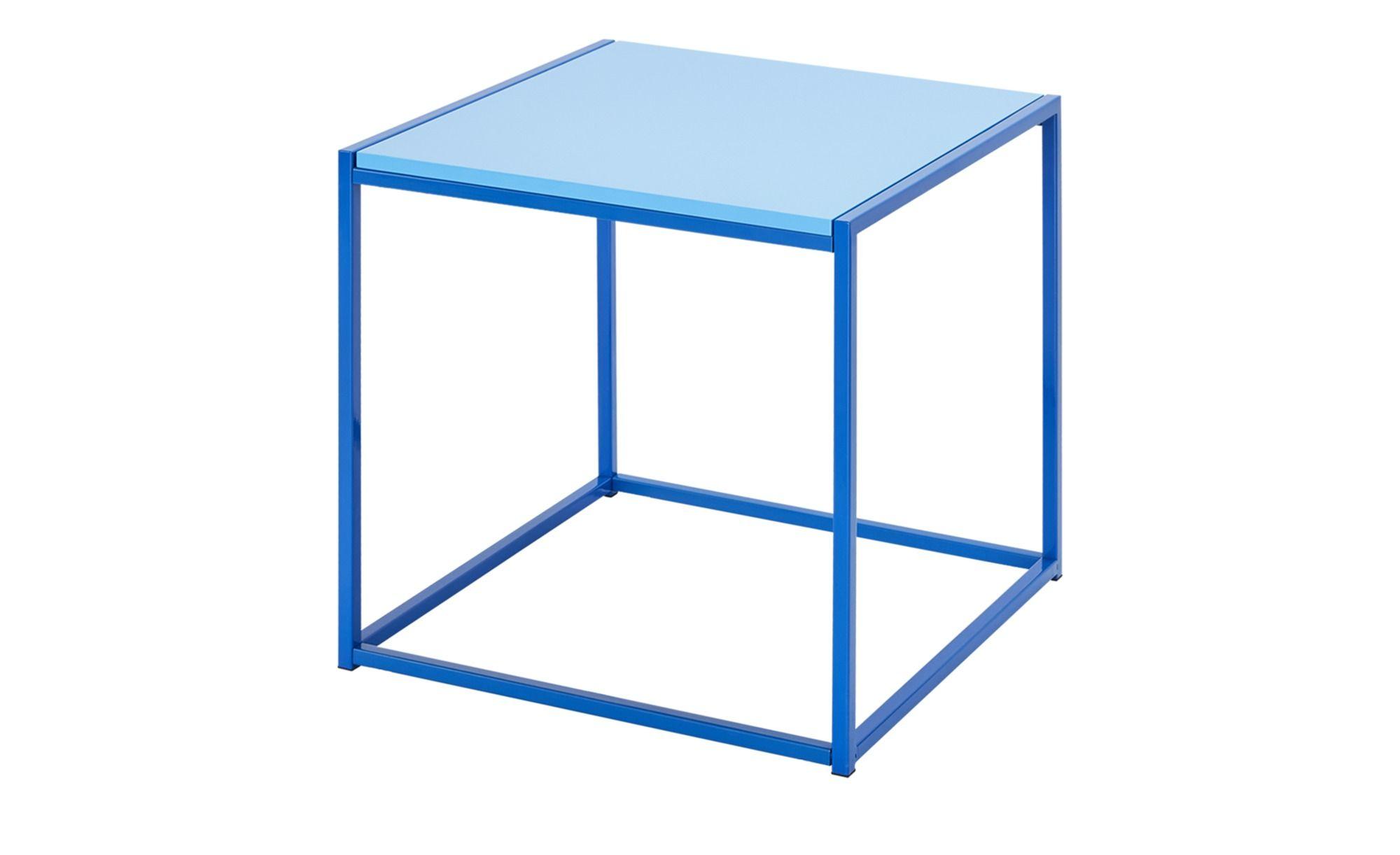 Beistelltisch Luc Blau Masse Cm B 50 H 50 T 50 Tische