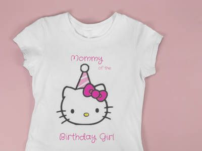 d69b6a3d3 Adult Pink Hello Kitty T-shirt Mom of the Birthday Girl Tee ...