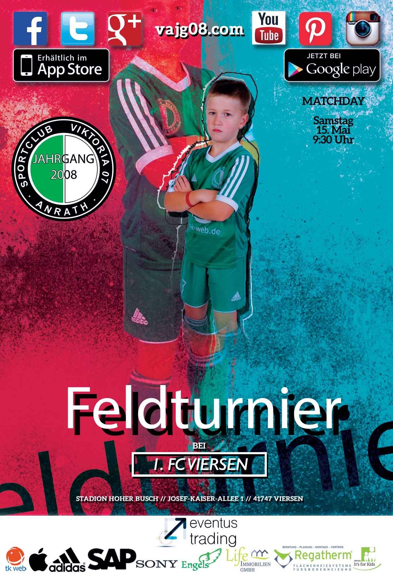 Wir nehmen am kommenden Sonntag, den 15. Mai um 9:30 Uhr beim Feldturnier bei 1. FC Viersen teil. Erfahre mehr über uns unter vajg08.com.