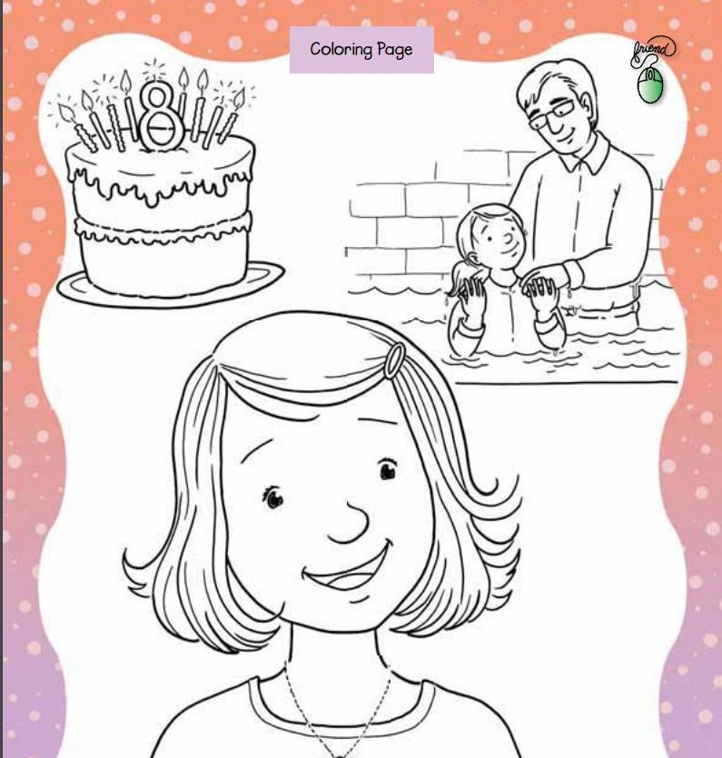 Great to be 8 Coloring Page || LDS Baptism | LDS Coloring Pages ...