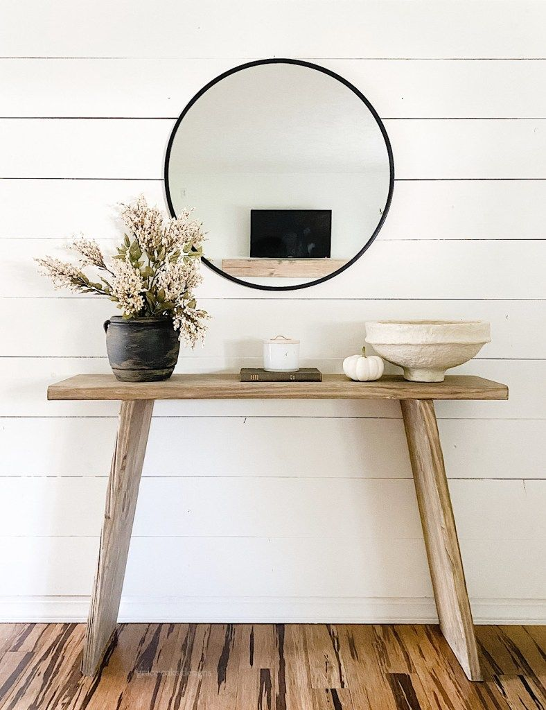 Modern Organic Neutral Console Table Styling Entryway Console Table Simple Console Table Console Table Styling