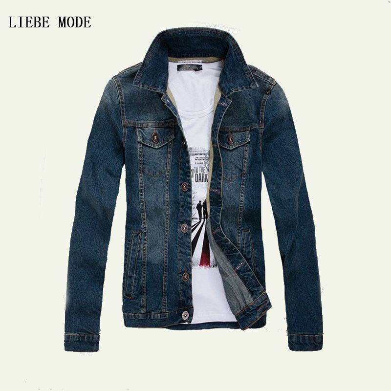 Japan Single Breasted Denim Jacket Men Spring Autumn Coats Casual ...
