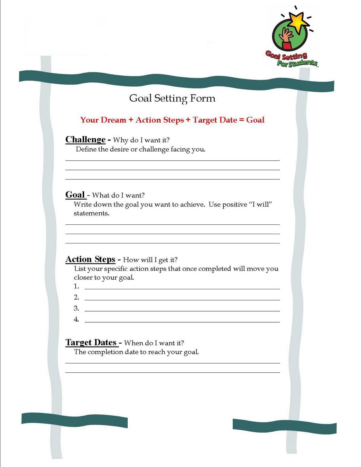 Student Goal Setting With Images
