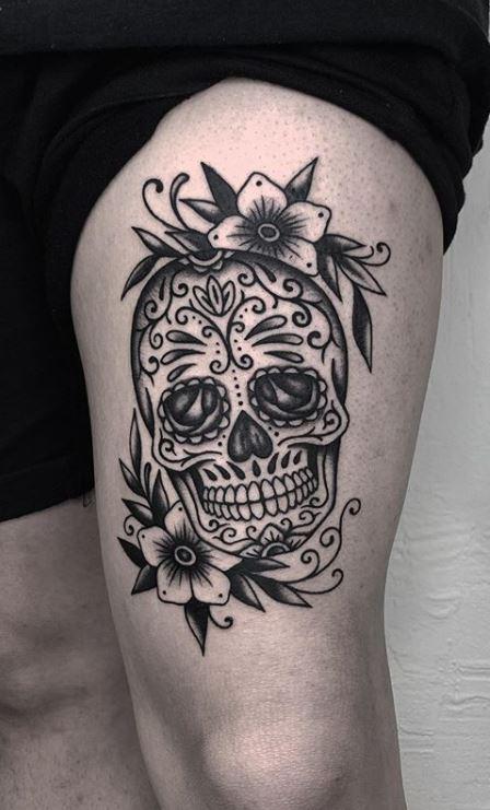 100 Unique Sugar Skull Tattoos Designs Ideas 2019 Tattoo Me Now 100 Unique Sugar Skull T In 2020 Candy Skull Tattoo Sugar Skull Tattoos Skull Sleeve Tattoos