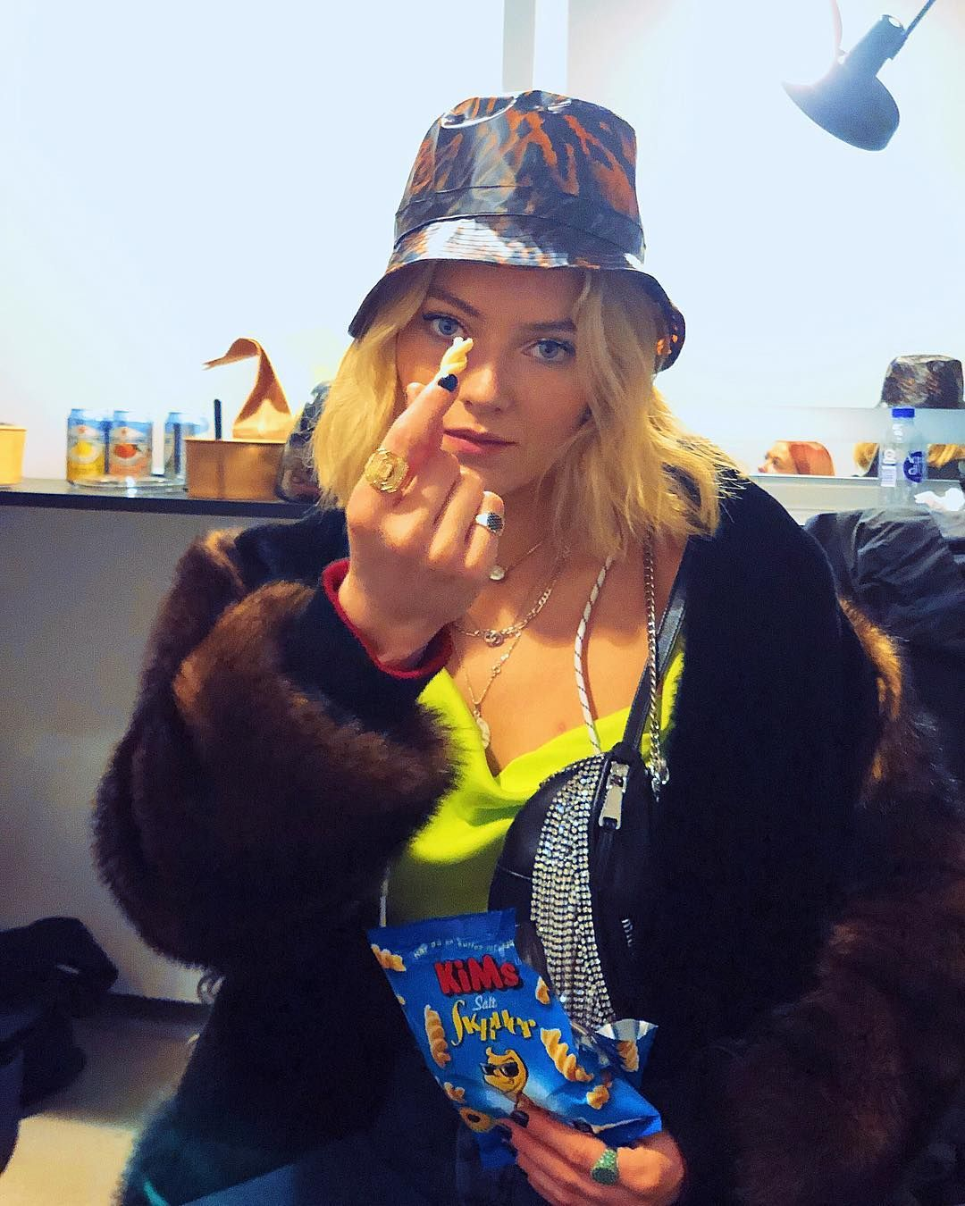 Astrid S On Instagram Are You Even Qualified For A Danish Afterparty Without A Rain Hat Faux Fur And Saltskruer Salty Screws Astrid S Zara Larsson Rain Hat