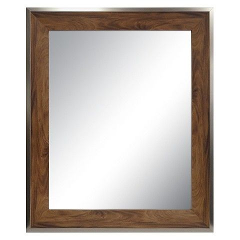Decorative Wall Mirror Threshold Antique Wood 36x30