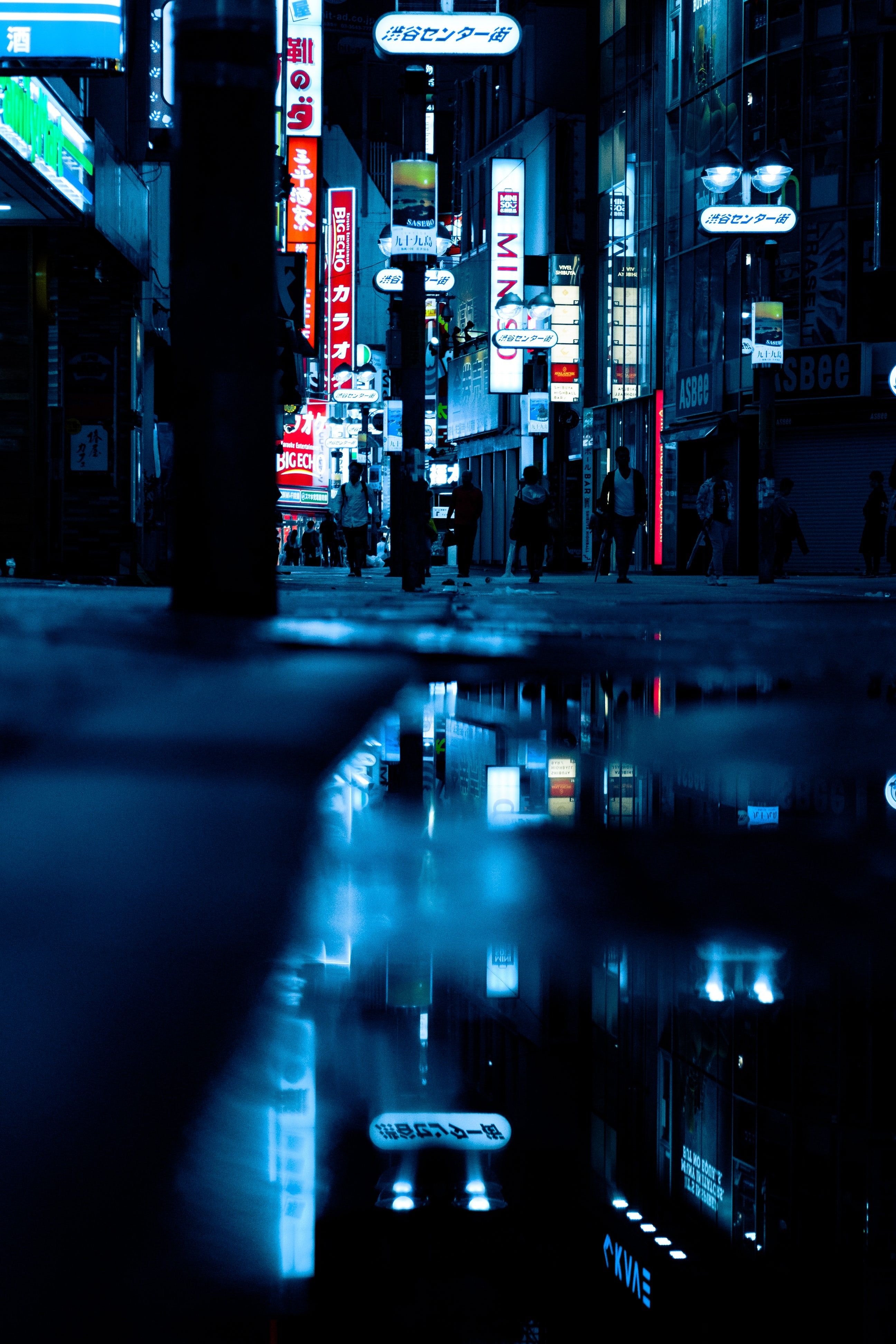 Reflection Of City Night Lights City Lights At Night Night City City Aesthetic