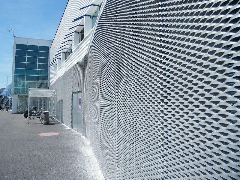 Façade En Métal Déployé Aluminium. Mont BlancLight HousePerforated Metal Amazing Pictures