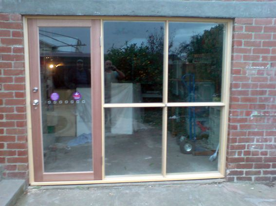 Garage Conversion Doors gargage door changed to an office frontwindows | garage