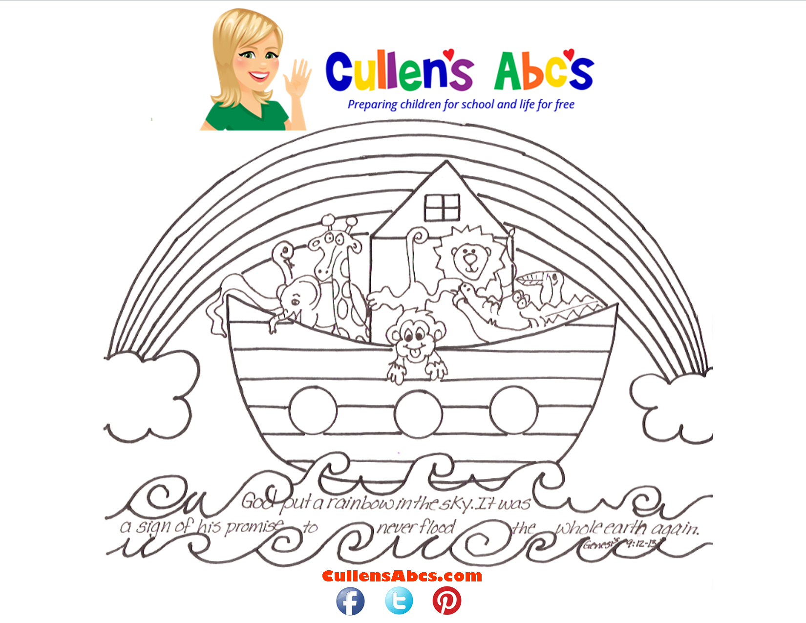 noahs ark bible key point coloring page here is a video of the noahs ark