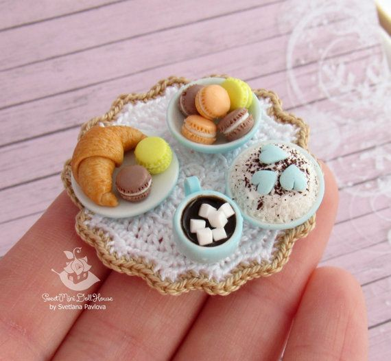 Miniature set for dolls and doll houses. от SweetMiniDollHouse