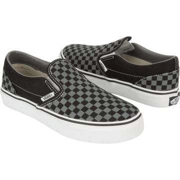 affaea2ed47 Vans Black and grey checkered slipons