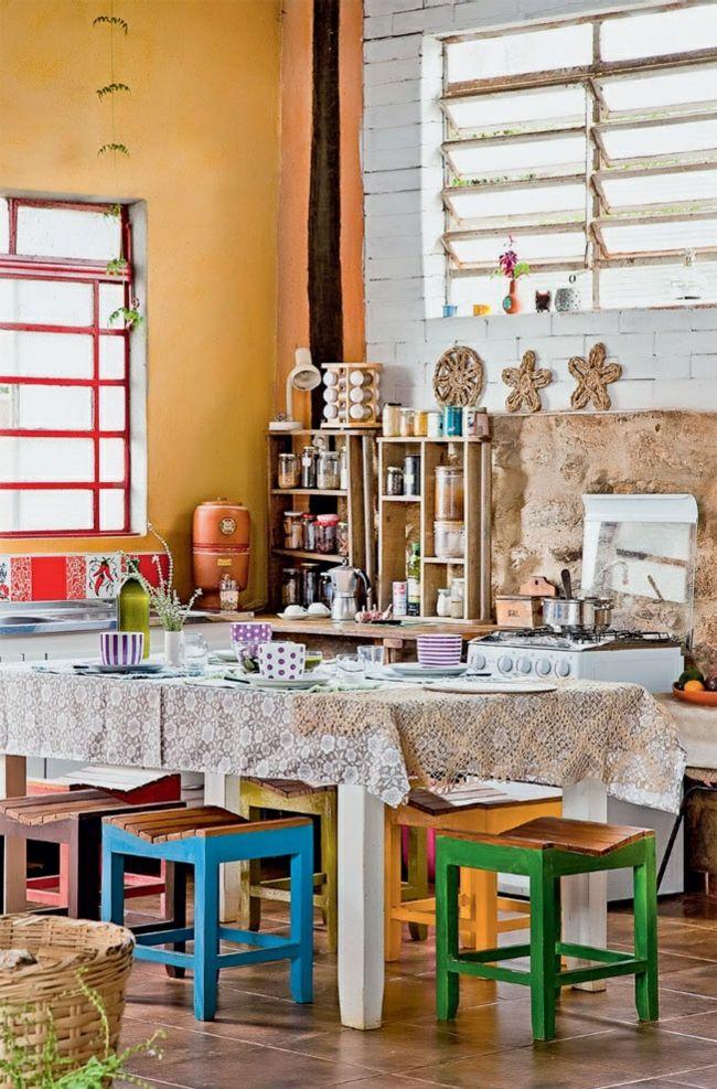 Nachhaltige architektur wohnideen rustikales esszimmer landhausstil farbgestaltung industrieller - Farbgestaltung esszimmer ...