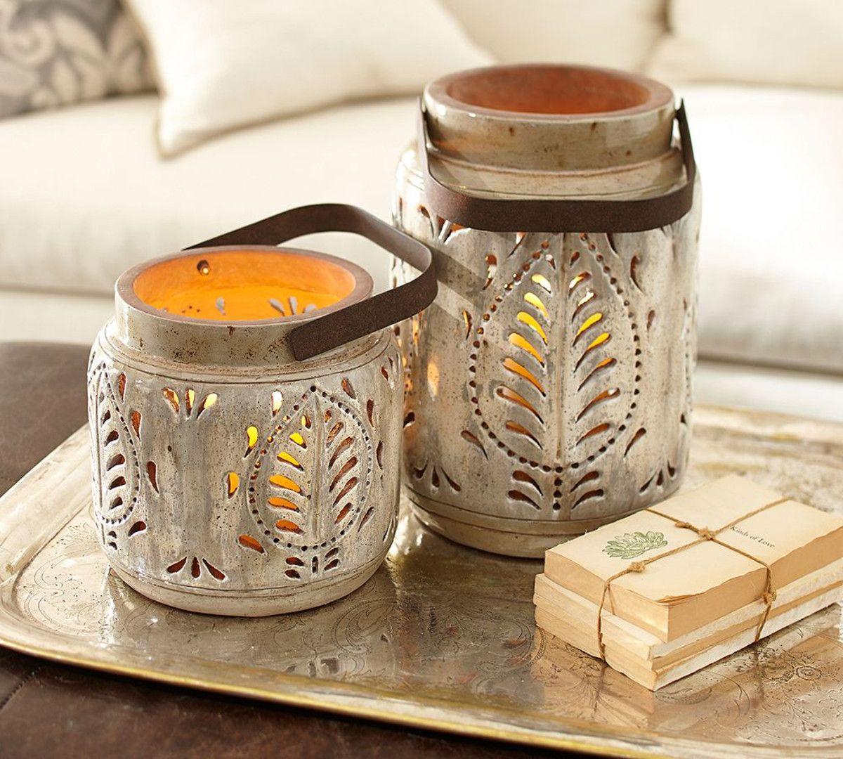 Avery Ceramic Lanterns   Pottery Barn Australia