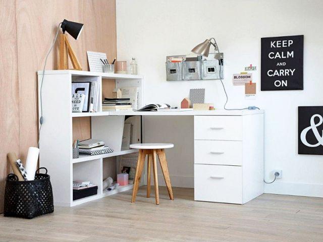 dix solutions de rangement astucieuses pour un bureau optimis espaces bureau coin bureau et. Black Bedroom Furniture Sets. Home Design Ideas