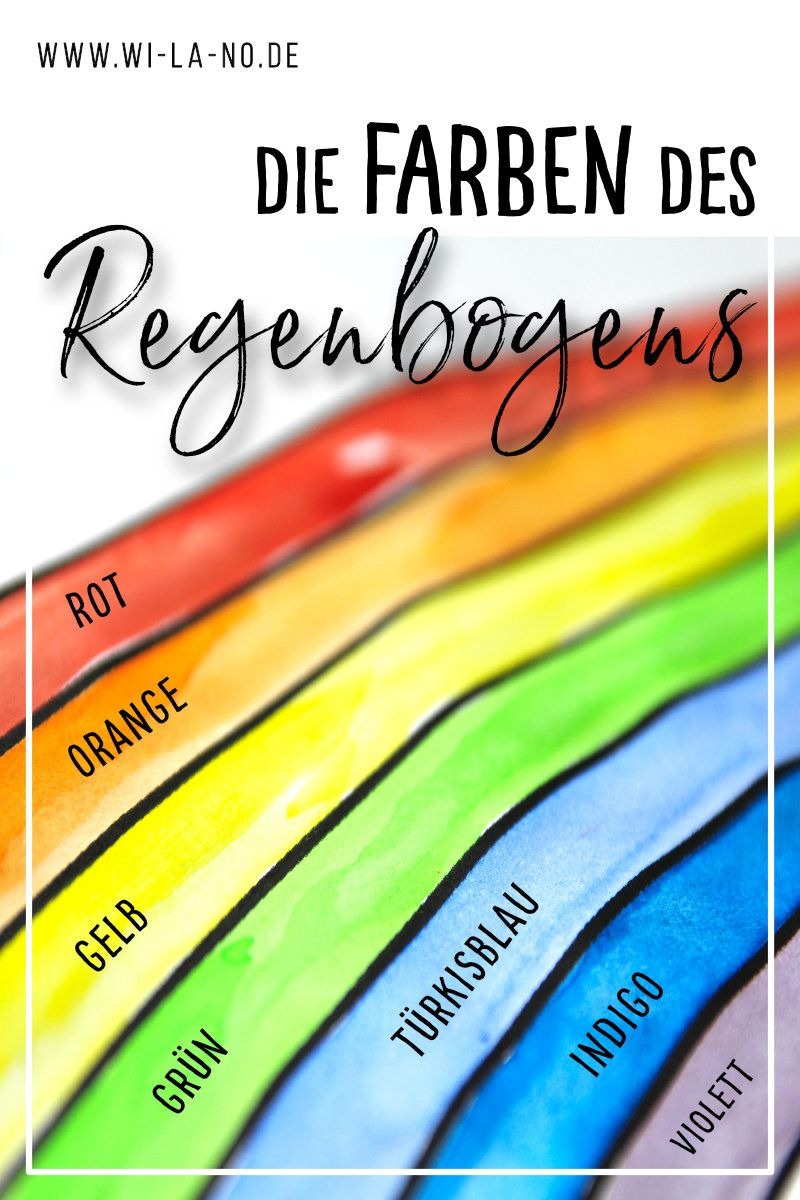 Die Farben Des Regenbogens Regenbogen Farben Regenbogen Bilder Regenbogenfarben