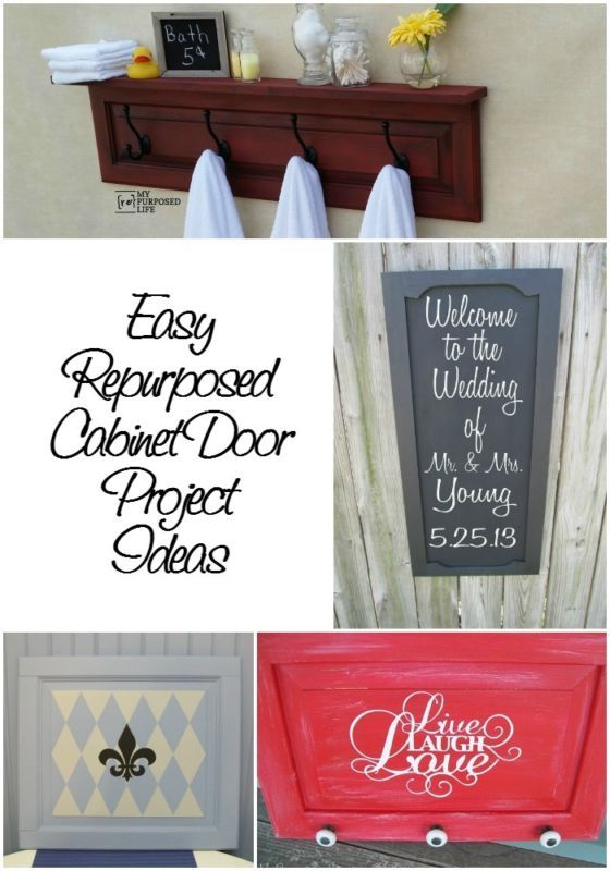 Easy Repurposed Cabinet Door Projects Diy Pinterest Cabinet
