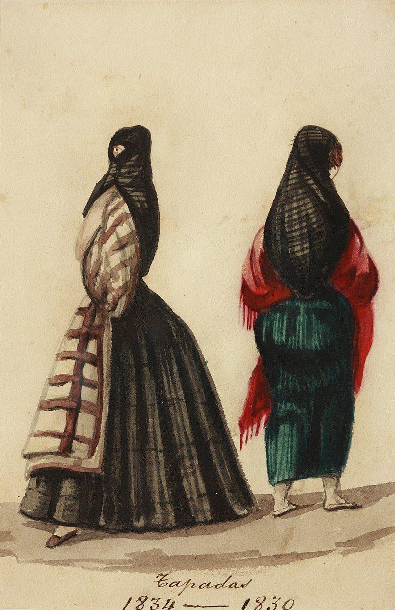 Tapadas (1830) - Pancho Fierro - Wikipedia, la enciclopedia libre en 2020    Arte peruano, Producción artística, Arte europeo