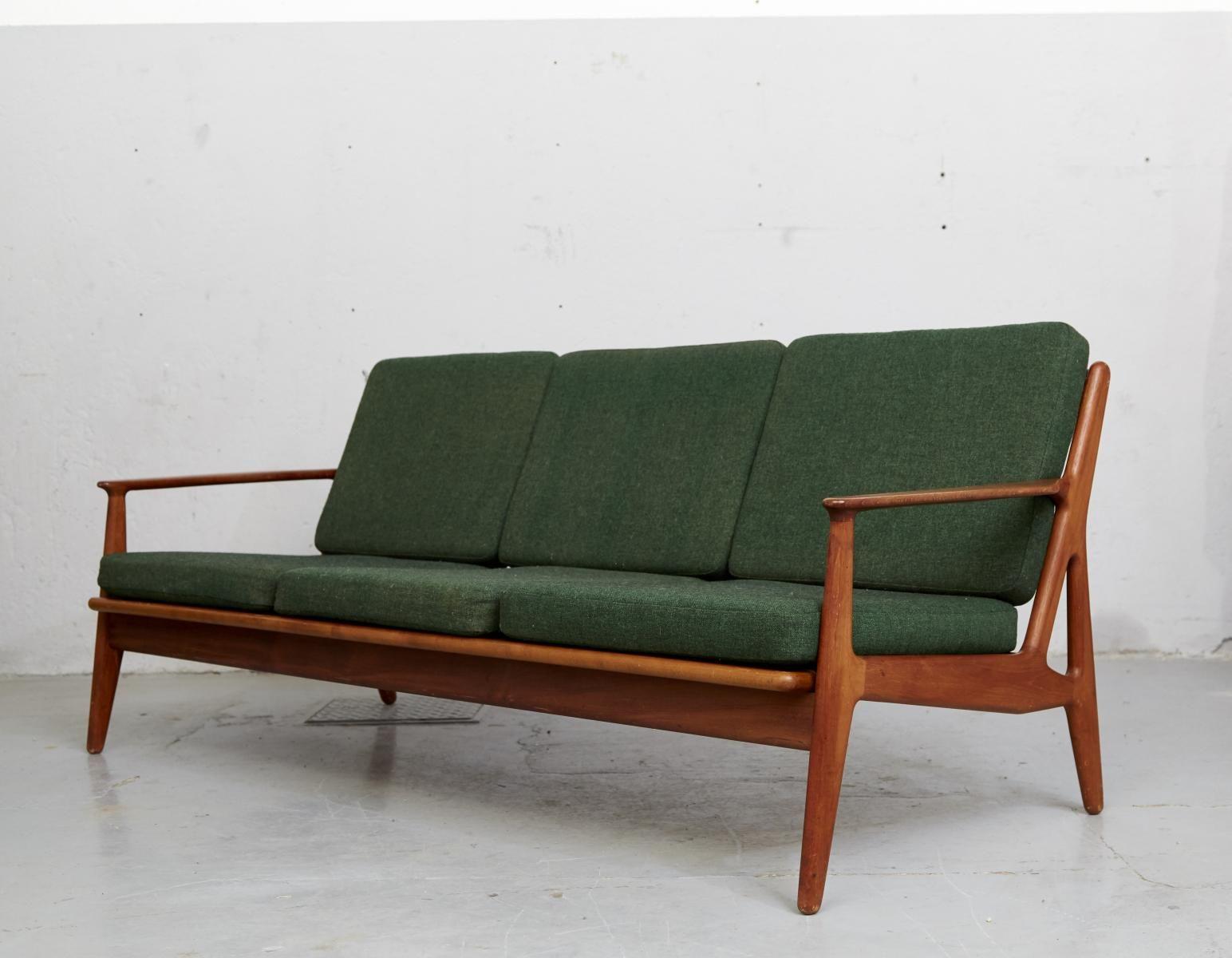 Mid Century Teak Sofa By Arne Vodder For
