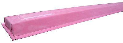 Pink Gymnastics Folding Training Low Beam 9 Feet Long