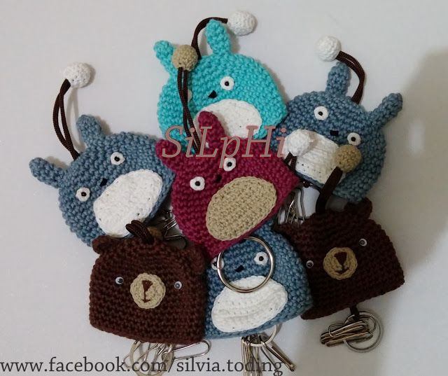 Gantungan Kunci Rajut Lucu Cute Crocheted Keychain Rajut Crochet