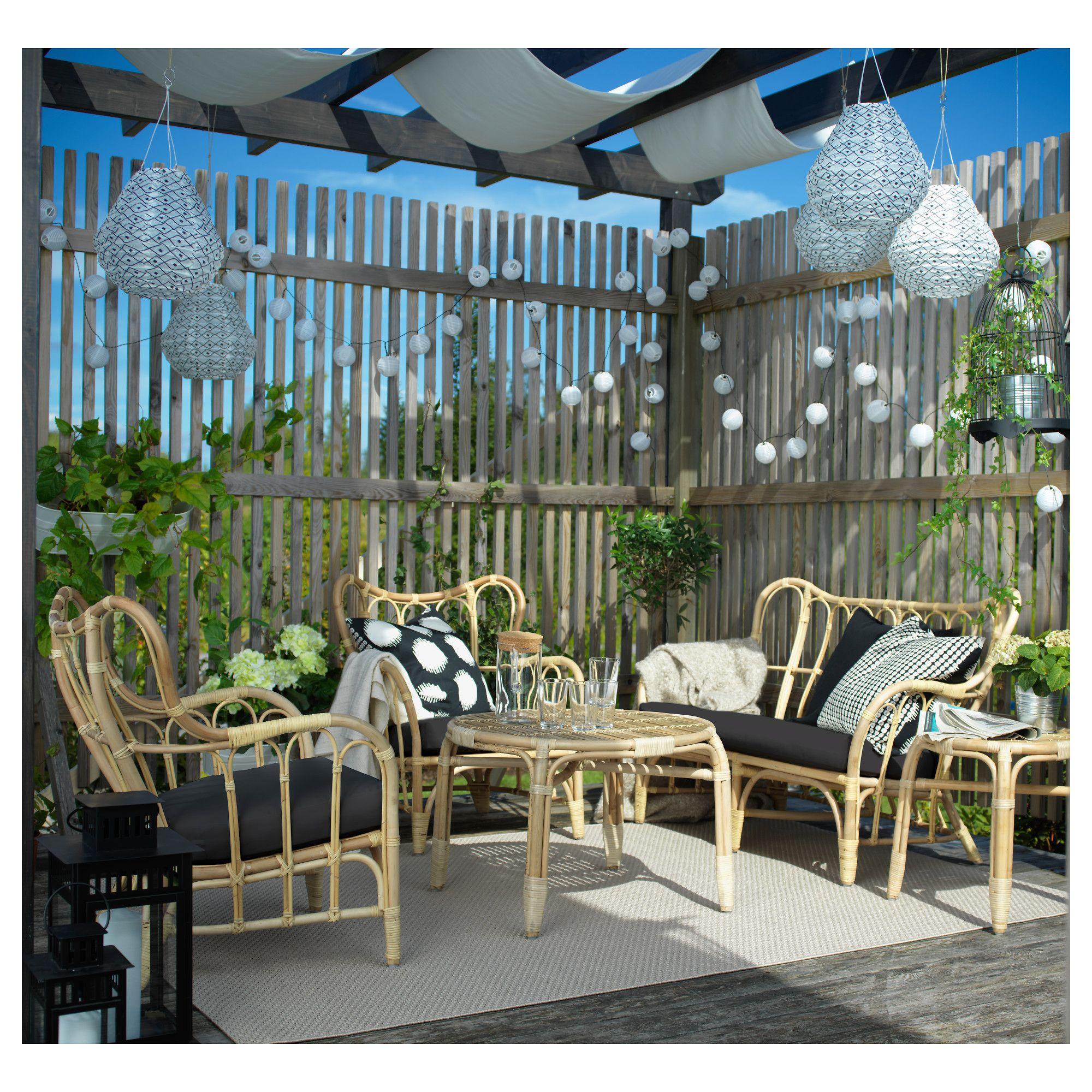 MASTHOLMEN 2 seat sofa outdoor 118x67x80 cm