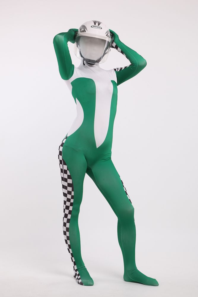cheap costumes for parties buy quality halloween costume directly from china zentai suit suppliers hot sale long sleeves green and white full body tight