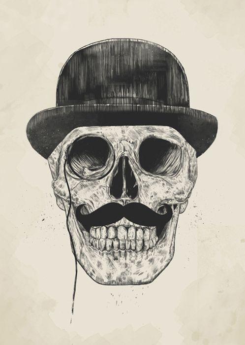 Gentlemen Never Die By Balazs Solti Skull Skull Art Aluminium Art