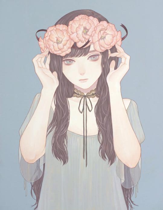 Mayumi Konno pastel wp wallpaper Manga art, Cute art