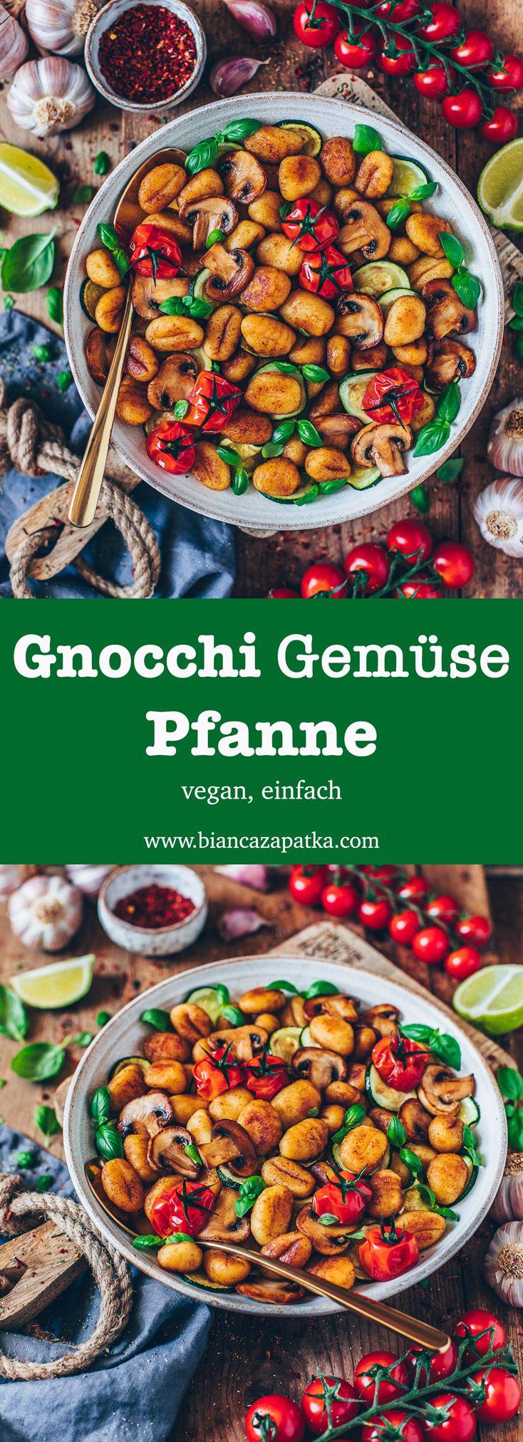Gnocchi-Gemüse-Pfanne (vegan #vejetaryentarifleri