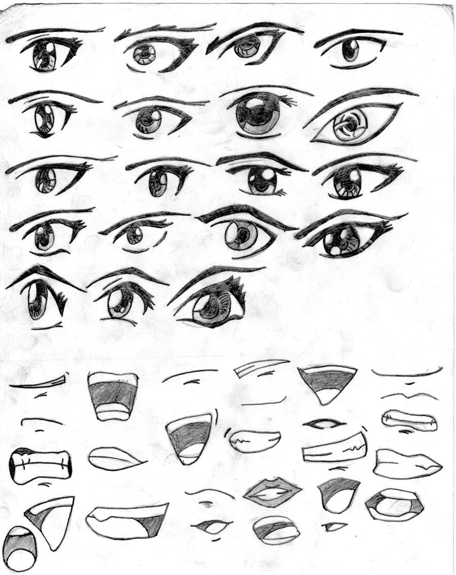 Anime eyes and mouths Anime mouth drawing, Eye drawing