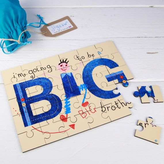 I'm Going to be a Big Brother jigsaw Wooden by TheWallStickerComp