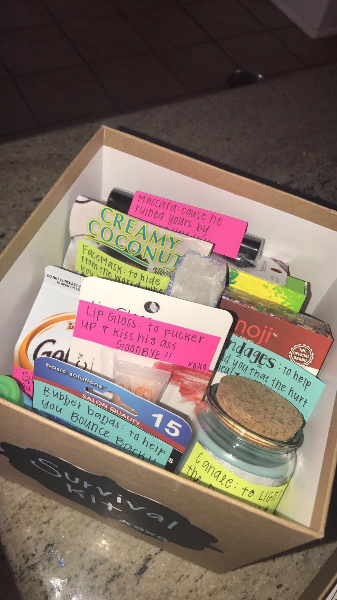 Cute Christmas Gift Ideas For Friends.Best Friend Break Up Box Part 3 4 Gift Box For Emily Diy