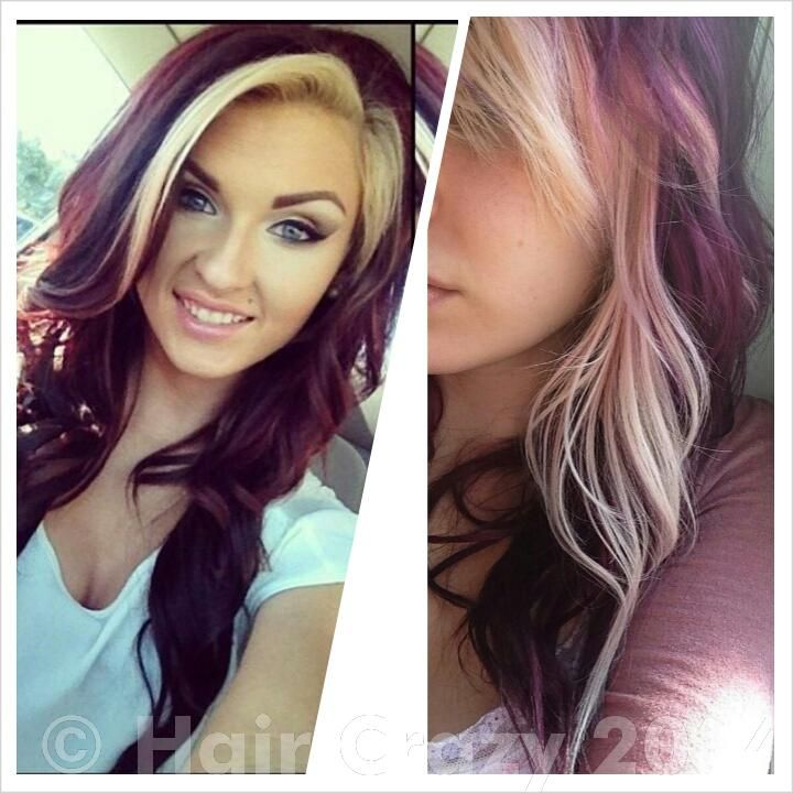 Burgundy Red Blonde Brown Ombre Hair Color Tutorial Rating Is
