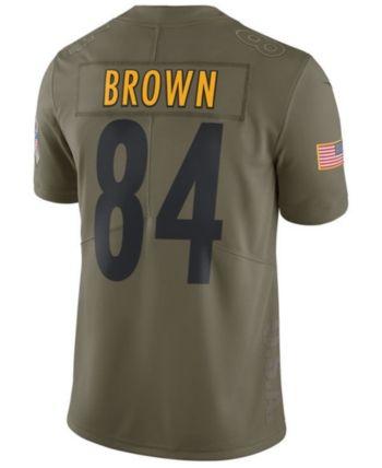 buy popular e70d0 91eb9 Nike Men's Antonio Brown Pittsburgh Steelers Salute To ...