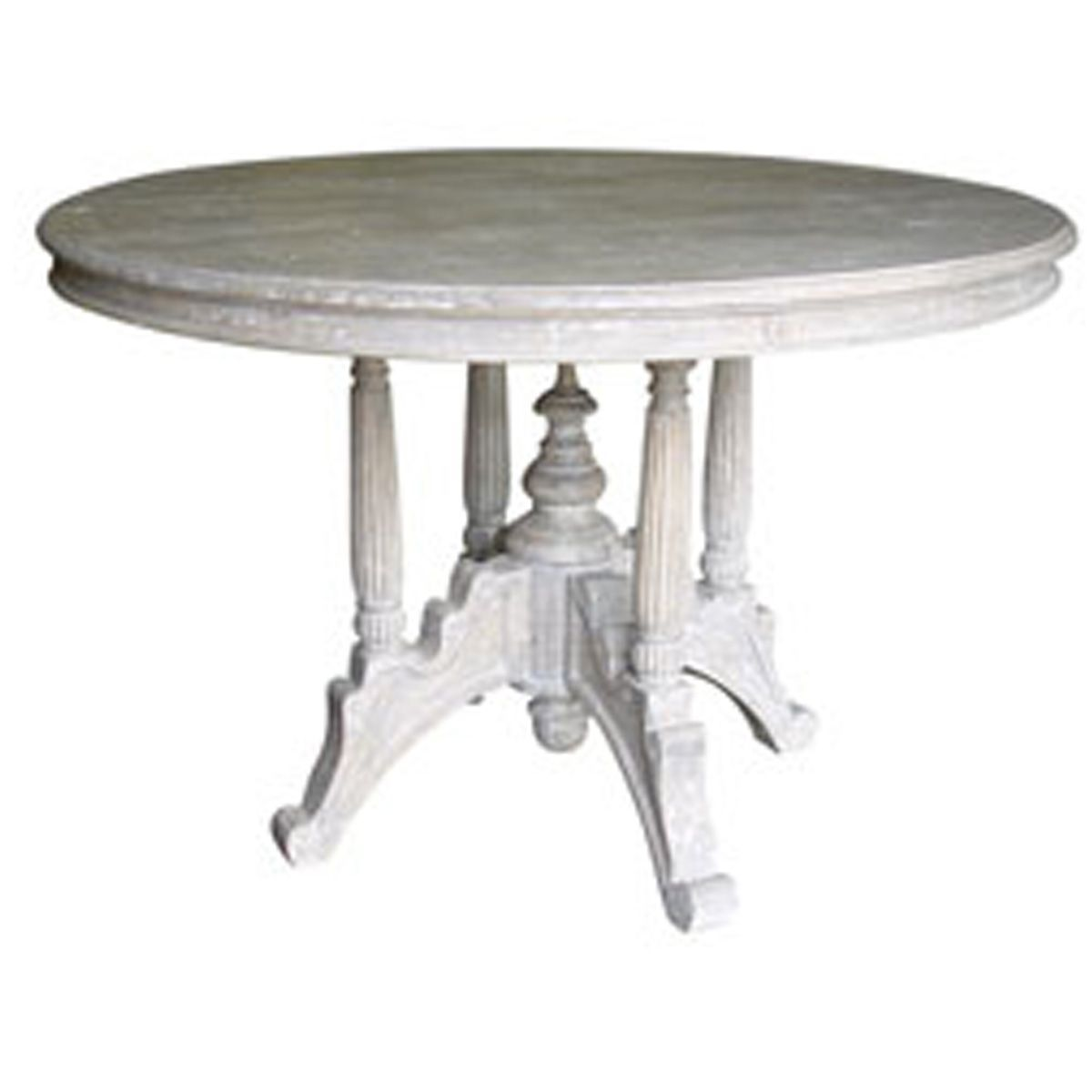 raffles cottage style round dining table 46 w x 46d x 30h