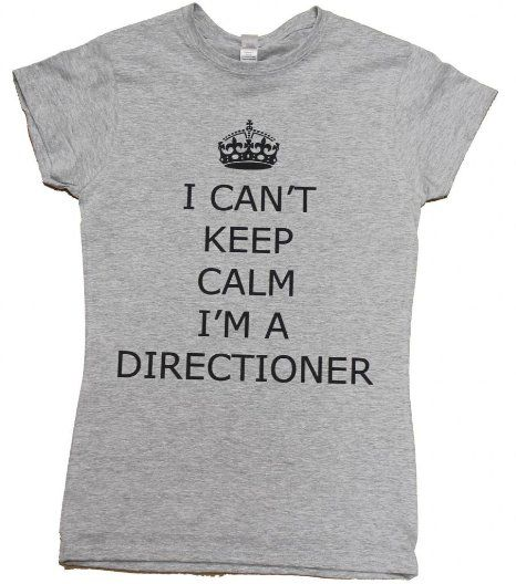 Amazon.com: 21 Century Clothing Women's I can't keep calm I'm a Directioner T-Shirt: Clothing