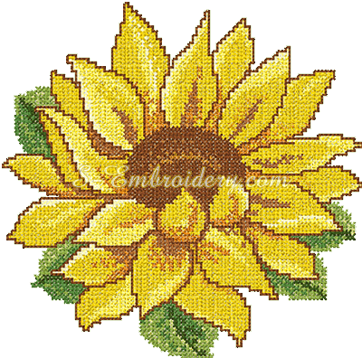 FREE SUNFLOWER EMBROIDERY PATTERNS