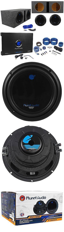 Car Subwoofers: 2) Planet Audio Ac10d 10 3000W Subwoofers+Vented Sub