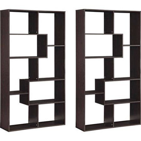 Mainstays Home 8 Shelf Bookcase Set Of 2 Mix And Match