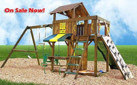 Cambridge Wooden Outdoor Playset Summer Projects Wooden Playset