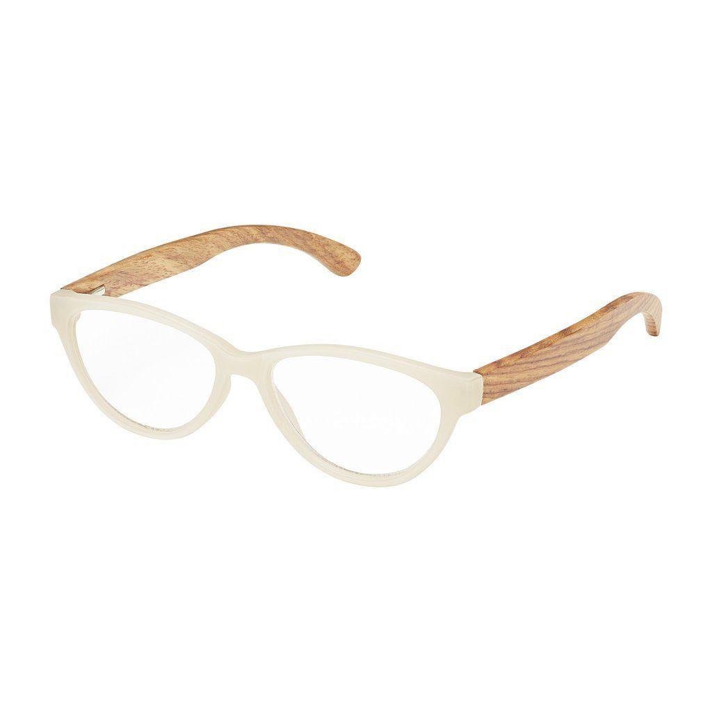 71bab06cb5 +2.50 Madison Rosewood Readers-White Lenses