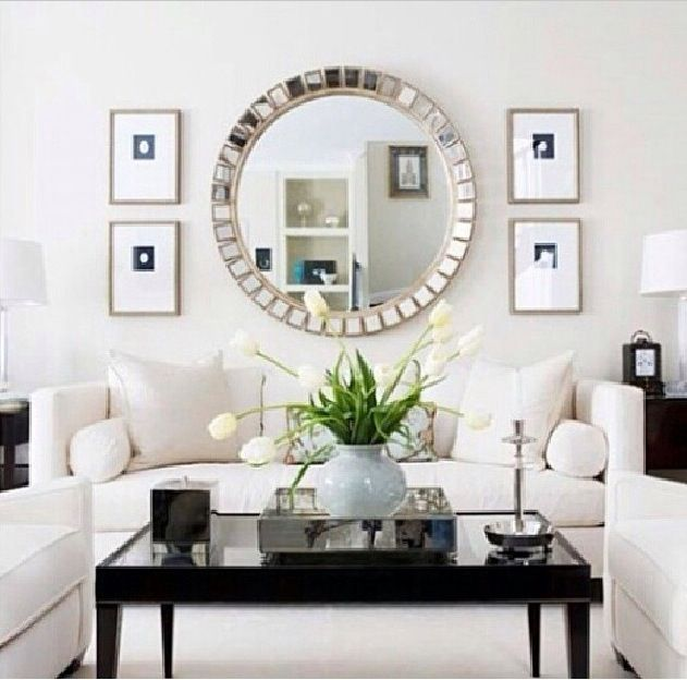 Decorating With Black Centsational Style Living Room Mirrors Wall Decor Living Room Formal Living Rooms