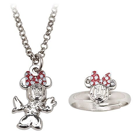 f40b5788e59c5 Minnie Mouse Ring and Necklace Set | Jewelry | Disney Store ...