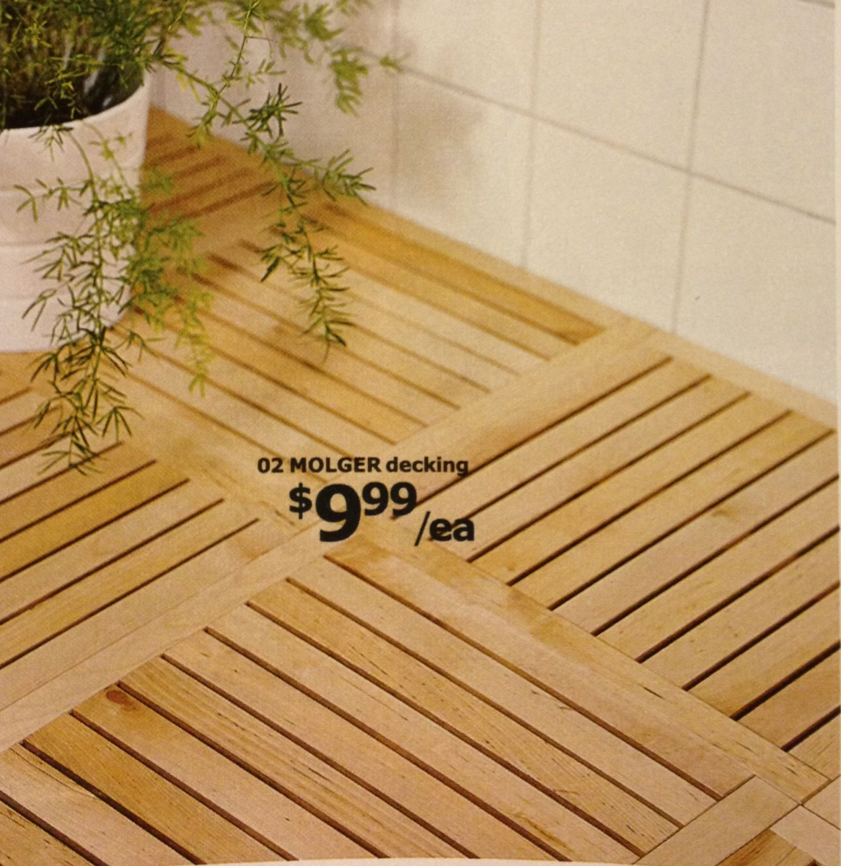 Superb Molger Decking, Shown In IKEA Catalog As Flooring In A Bath. Easy To Lay