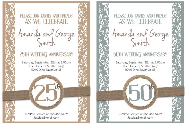 1000 images about Anniversary party – Print Free Anniversary Cards