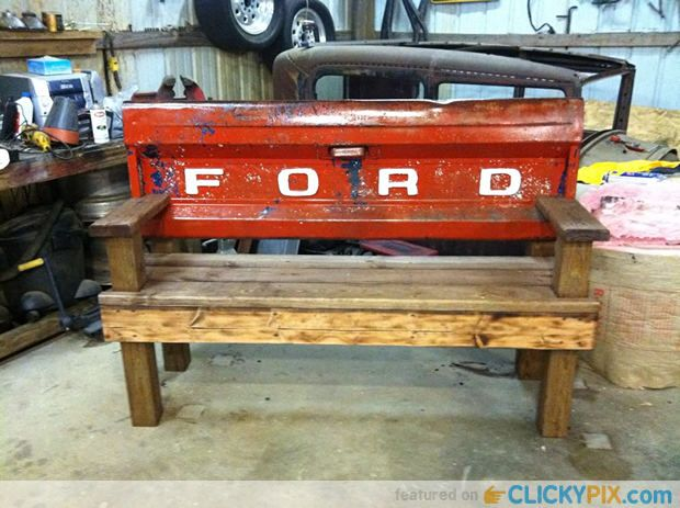 Tailgate Bench From Old Tailgates 20 Tailgate Truck