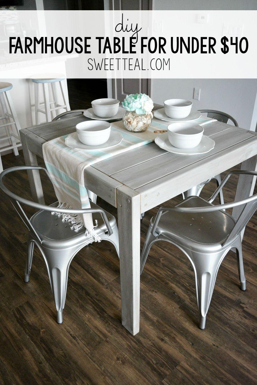 DIY Farmhouse Table For Under 40 Diy farmhouse table