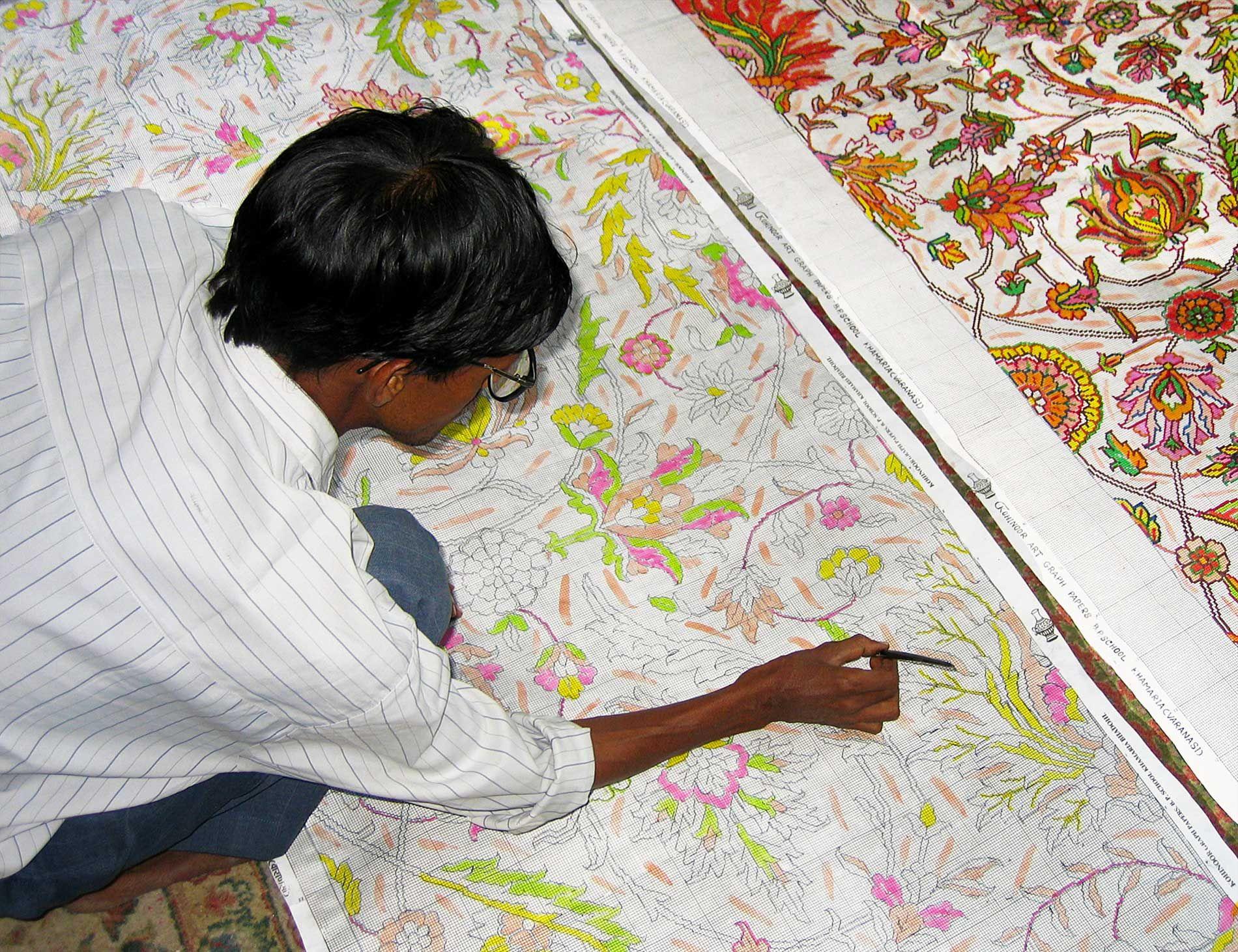 Rug Making Vibrant Rugs Artist At Work Rug Making