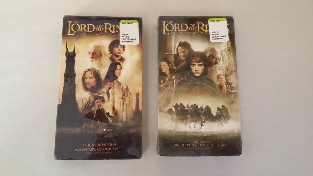 Lord Of The Rings Vhs Tapes The Fellowship Of The Ring The Two Towers Sealed Fellowship Of The Ring The Two Towers Lord Of The Rings